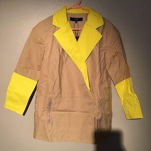 🆕 tibi Bonded Rubberized Drop Shoulder Coat